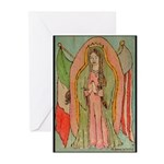 Virgen de Guadalupe Mex/Amer Greeting Cards (Packa