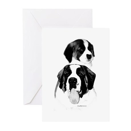 Saint Charcoal2 Greeting Cards (Pk of 10)