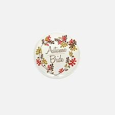 Oak Wreath Autumn Bride Mini Button