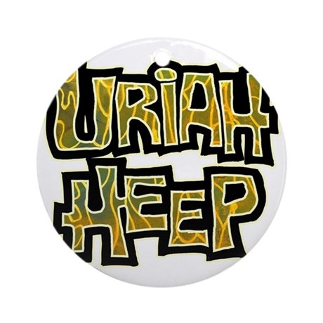Uriah Heep Shirt Round Ornament