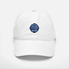 Maltese Cross-Blue Flame Baseball Baseball Cap