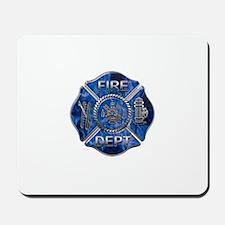 Maltese Cross-Blue Flame Mousepad