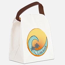 Long Beach Sunset Crest Canvas Lunch Bag