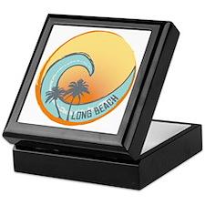 Long Beach Sunset Crest Keepsake Box