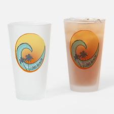 Long Beach Sunset Crest Drinking Glass