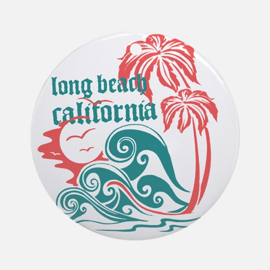 Wavefront Long Beach Round Ornament