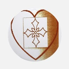 Large There is Hope Heart Round Ornament
