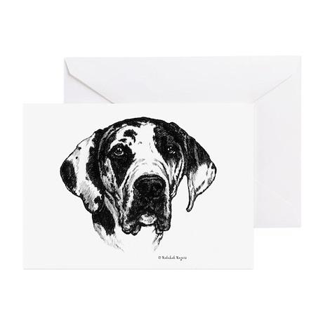 Harlequin Dane Greeting Cards (Pk of 10)