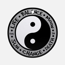 Yin & Yang Meanings Ornament (Round)