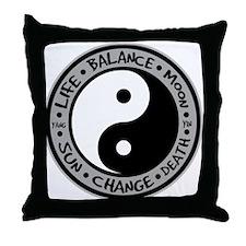 Yin & Yang Meanings Throw Pillow