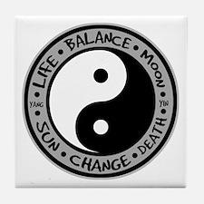 Yin & Yang Meanings Tile Coaster