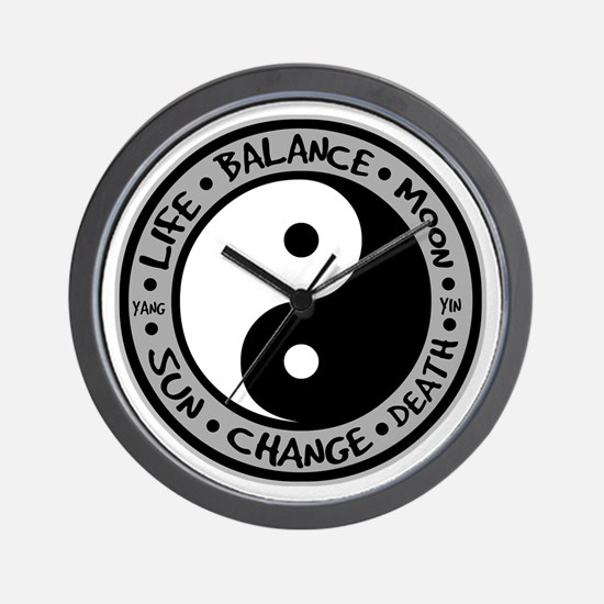 Yin & Yang Meanings Wall Clock