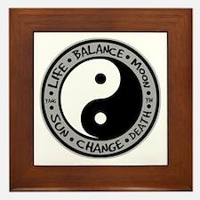 Yin & Yang Meanings Framed Tile