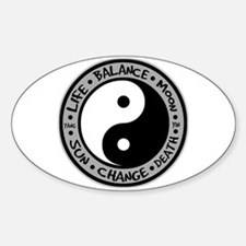 Yin & Yang Meanings Oval Decal