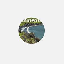 Black Sand Beach Maui Mini Button