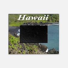 Black Sand Beach Maui Picture Frame
