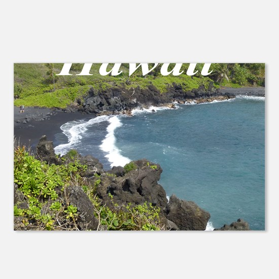 Black Sand Beach Maui Postcards (Package of 8)