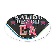Malibu Boardwalk Badge Oval Car Magnet