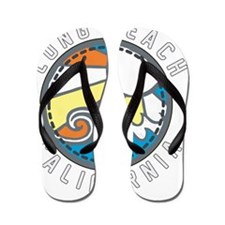 Long Beach Wave Badge Flip Flops