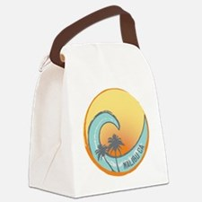 Malibu Sunset Crest Canvas Lunch Bag