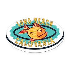 Long Beach Gearfish Oval Car Magnet