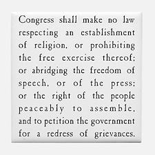 First Amendment Freedom of Speech Tile Coaster