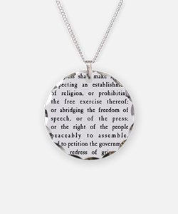 First Amendment Freedom of S Necklace