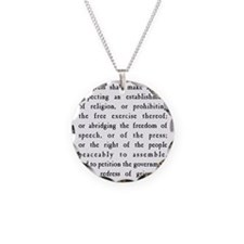 First Amendment Freedom of S Necklace Circle Charm