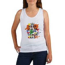 Keep Calm  Teach Art Women's Tank Top