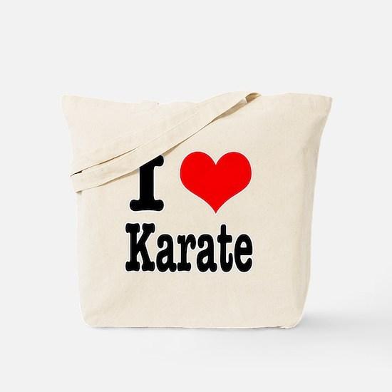 I Heart (Love) Karate Tote Bag