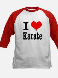 I Heart (Love) Karate Kids Baseball Jersey