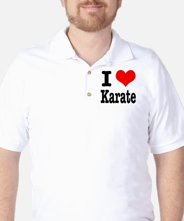I Heart (Love) Karate Golf Shirt