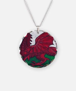 Wales Flag Necklace