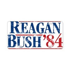 Distressed Reagan - Bush '8 Aluminum License Plate