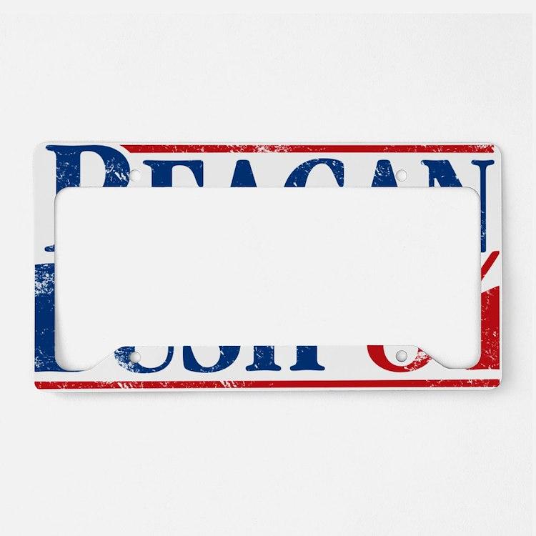 Distressed Reagan - Bush '84 License Plate Holder
