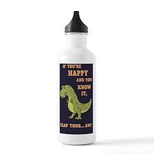 t-rex-clap-2-STKR Water Bottle