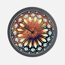 Fire Rose Mandala whole Lt2 Wall Clock