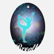 Breathe Oval Ornament