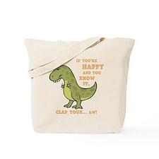 t-rex-clap-2-DKT Tote Bag