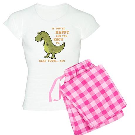 t-rex-clap-2-DKT Women's Light Pajamas