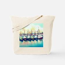 Vintage Shrimp Boat Post Card Tote Bag