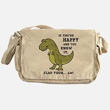 t-rex-clap-2-LTT Messenger Bag