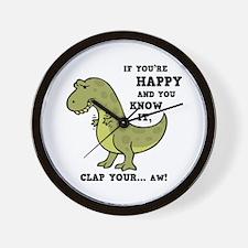 t-rex-clap-2-LTT Wall Clock