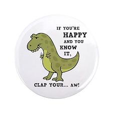 """t-rex-clap-2-LTT 3.5"""" Button"""
