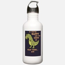 t-rex-clap-BUT Water Bottle