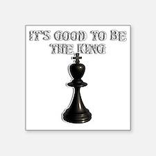 "Chess King Square Sticker 3"" x 3"""