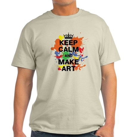 Keep Calm And Make Ar Light T Shirt Keep Calm And Make Art