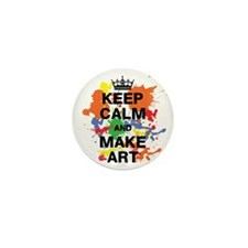 Keep Calm and Make Art Mini Button