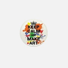 Keep Calm and Make Art Mini Button