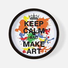 Keep Calm and Make Art Wall Clock